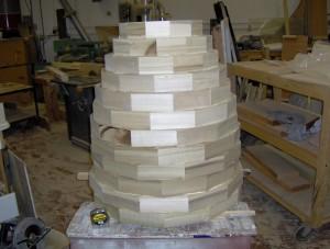 Blank glued up for urn